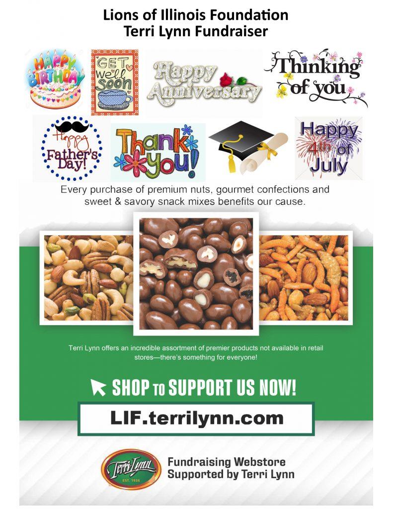 Lions of Illinois Foundation Terri Lynn Fundraiser Information sheet